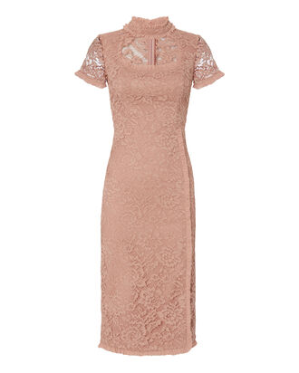 Zoelle Midi Lace Dress, BLUSH/NUDE, hi-res