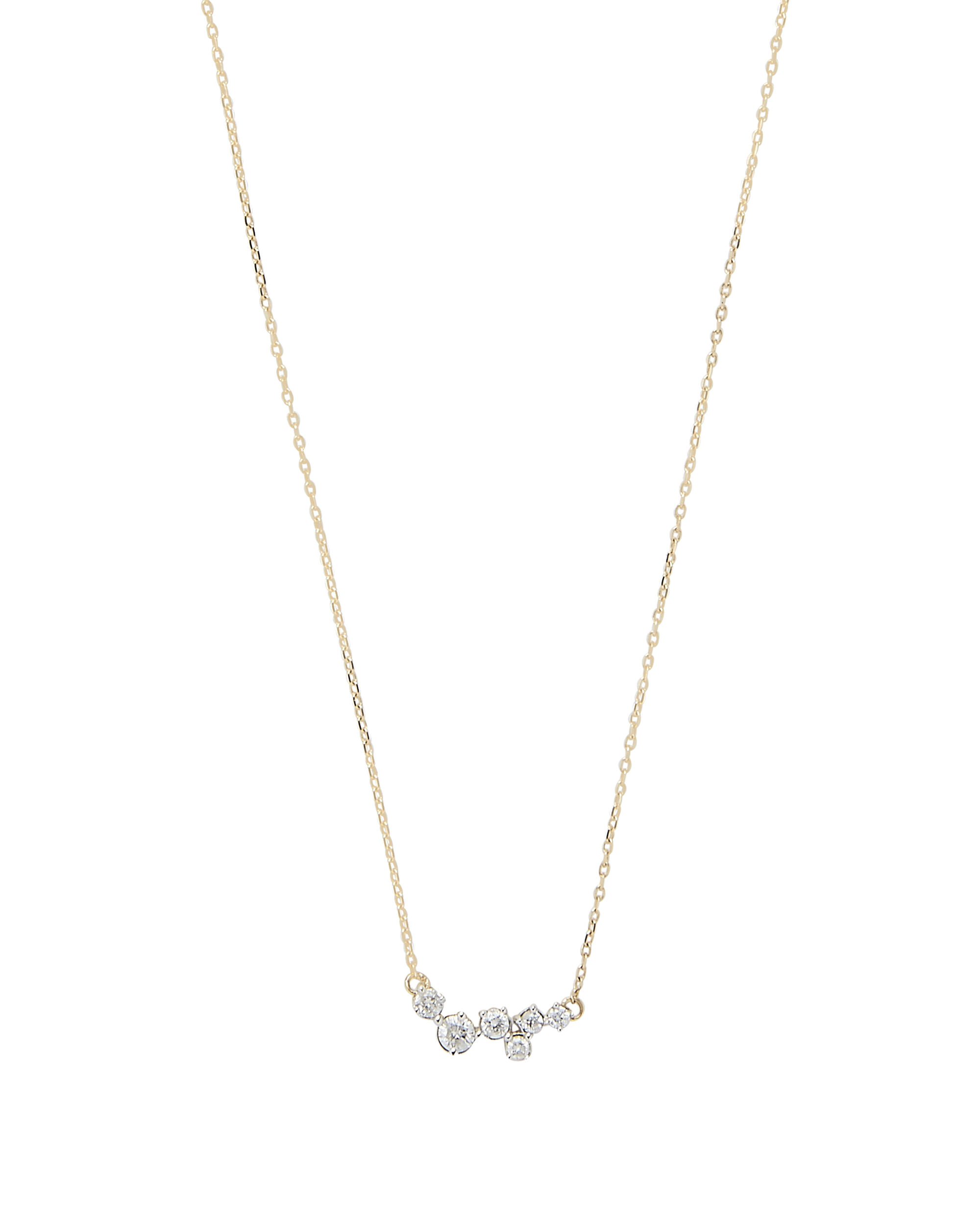 Scattered Diamond Necklace, METALLIC, hi-res