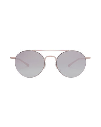 Rose Mirrored Round Sunglasses, METALLIC, hi-res