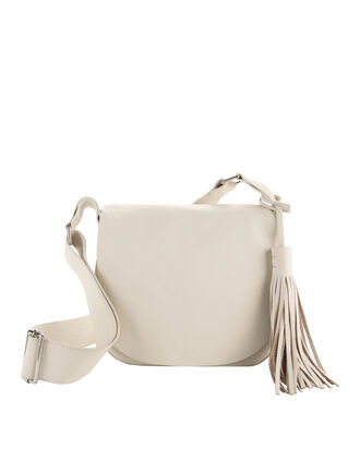 Henry Tassel Shoulder Bag, WHITE, hi-res