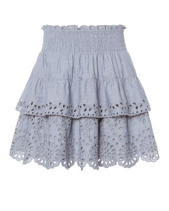 Juno Chambray Eyelet Skirt, DENIM-LT, hi-res