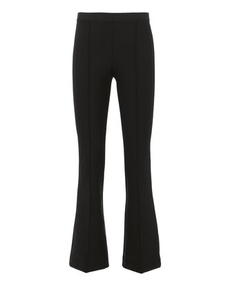 Neoprene Crop Flare Leggings, BLACK, hi-res