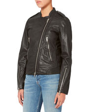 Lyon Leather Jacket, BLACK, hi-res