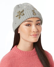Milou Patches Beanie, GREY, hi-res