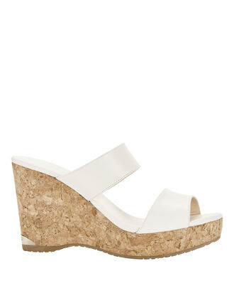 Parker Wedge Sandals, WHITE, hi-res