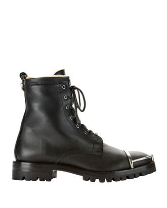 Lyndon Metal Toe Shearling Boots, BLACK, hi-res