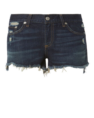 Doris Cutoff Denim Shorts, DENIM, hi-res