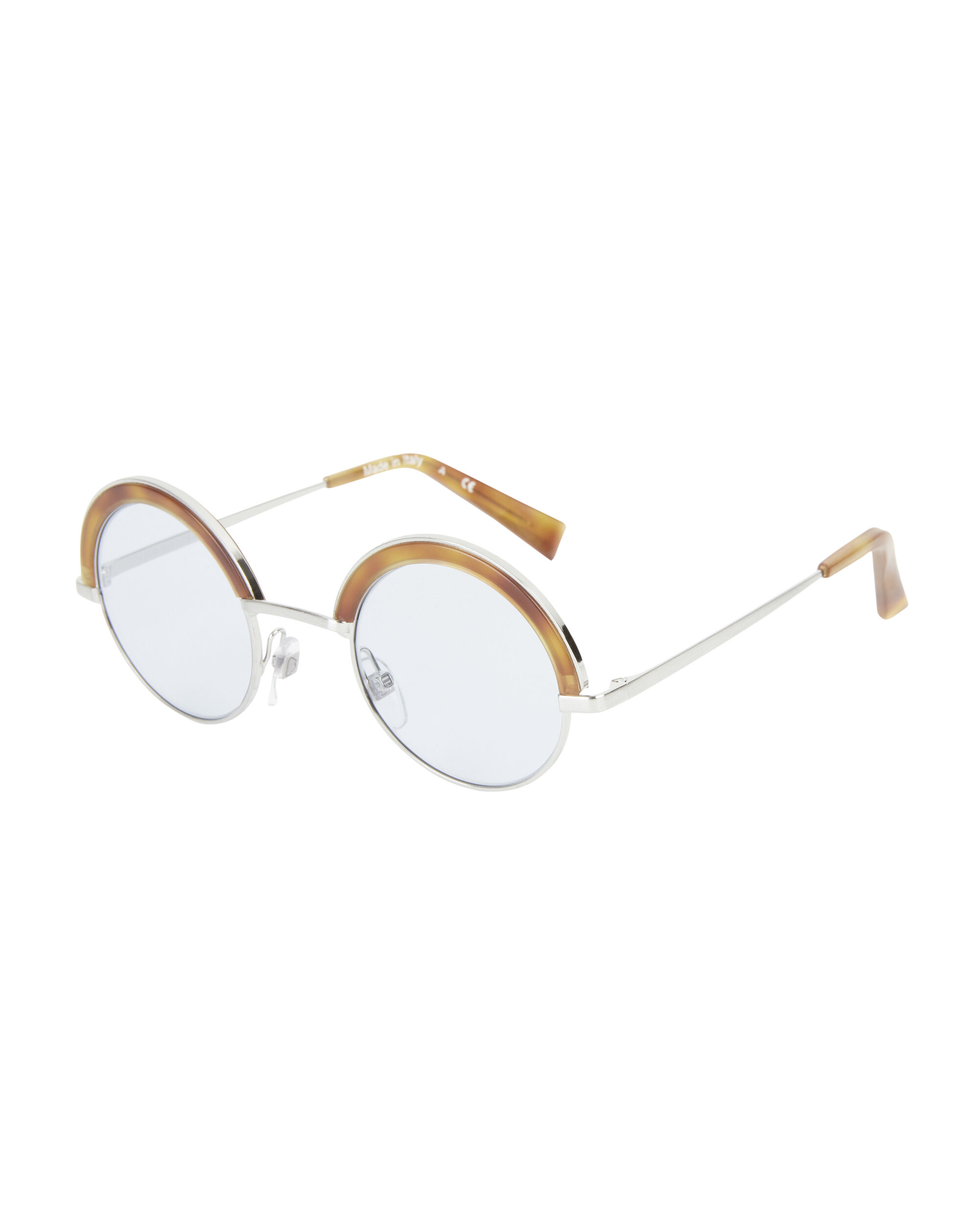Oliver Peoples for Alain Mikli Blue Wash Round Sunglasses, SILVER, hi-res