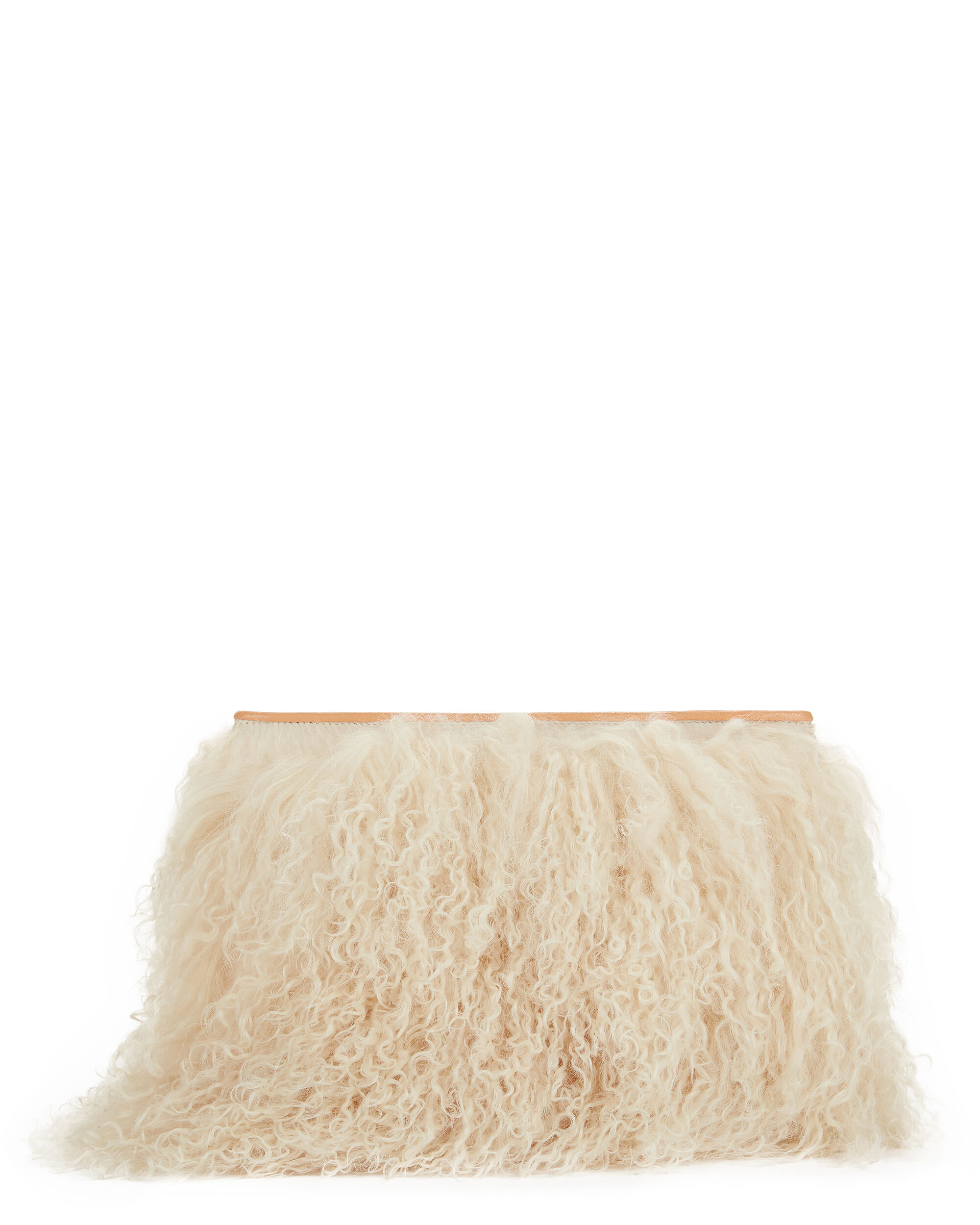 Wallflower Shearling Clutch, BLUSH, hi-res