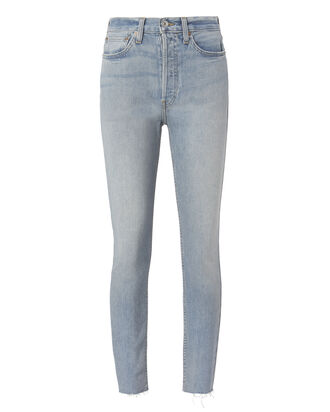Ankle Crop High-Rise Jeans, DENIM, hi-res