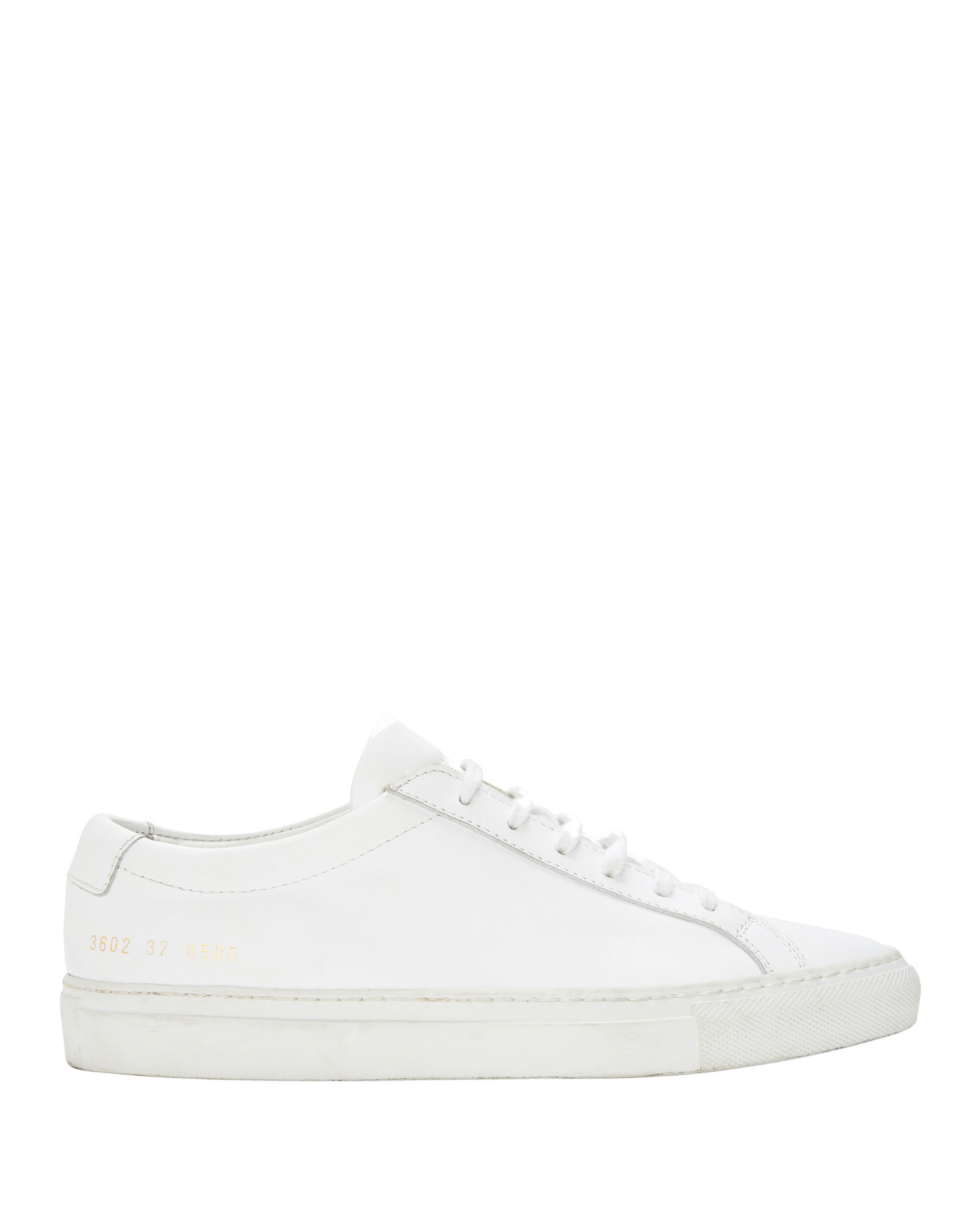 ACHILLES LOW WHITE LEATHER SNEAKERS
