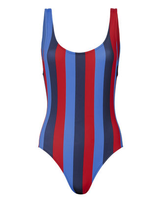 Anne-Marie Southampton Striped Swimsuit, PATTERN, hi-res