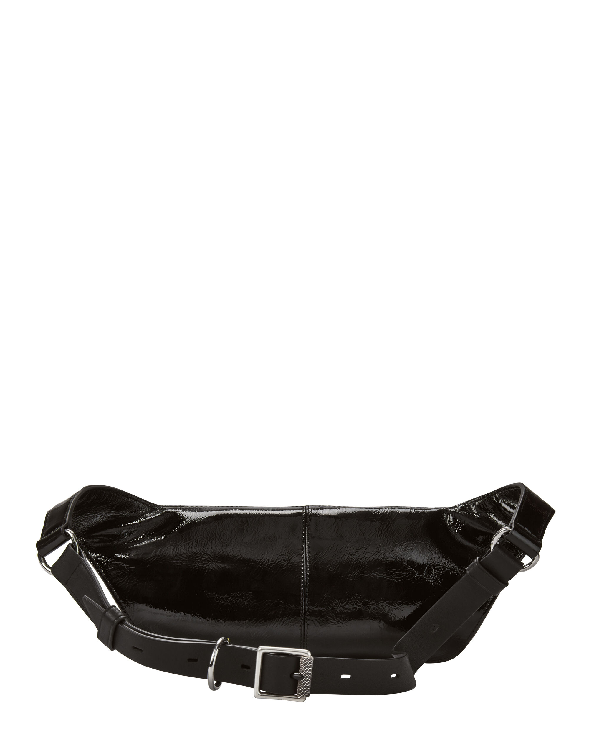 Small Patent Leather Fanny Pack, BLACK, hi-res