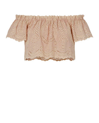 Stephanie Eyelet Crop Top, BLUSH, hi-res