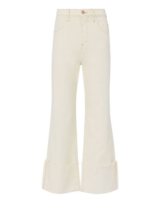 Joan High-Rise Cuff Pants, IVORY, hi-res