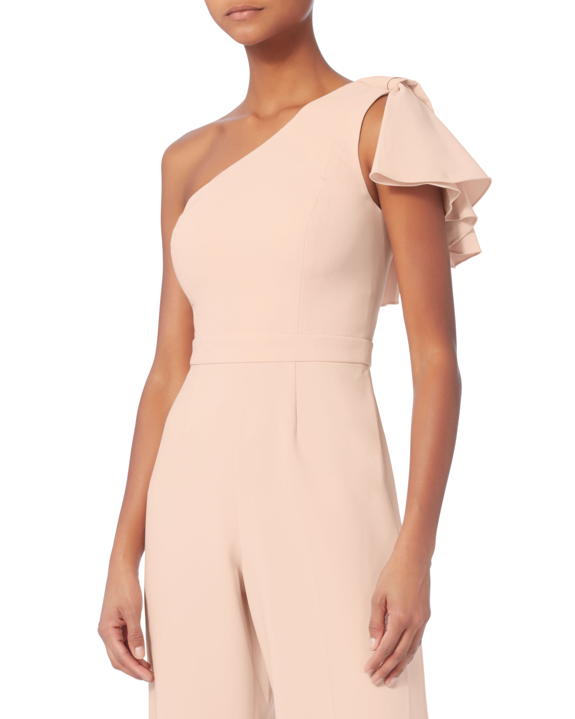 One Shoulder Hamilton Jumpsuit, BLUSH/NUDE, hi-res