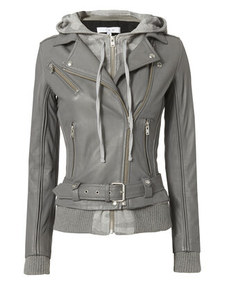Harper Camo Combo Leather Jacket, GREY, hi-res