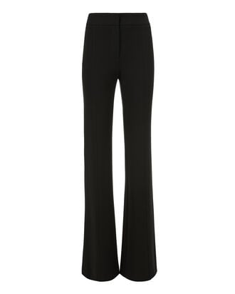 High-Rise Black Flare Trousers, BLACK, hi-res