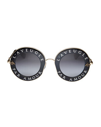 Blind For Love Round Sunglasses, BLACK, hi-res