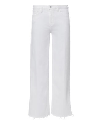 Dancia Wide Leg Cropped Jeans, WHITE, hi-res