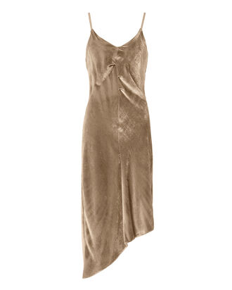 Solomon Slip Velvet Dress, METALLIC, hi-res