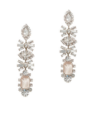 Phee Crystal Long Earrings, BEIGE, hi-res