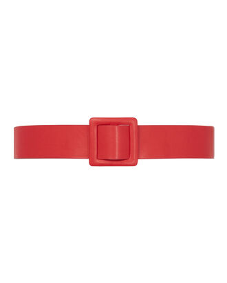 Violetta Reversible Belt, RED, hi-res