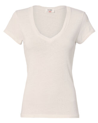 1960s Optic White Slim Tee, WHITE, hi-res