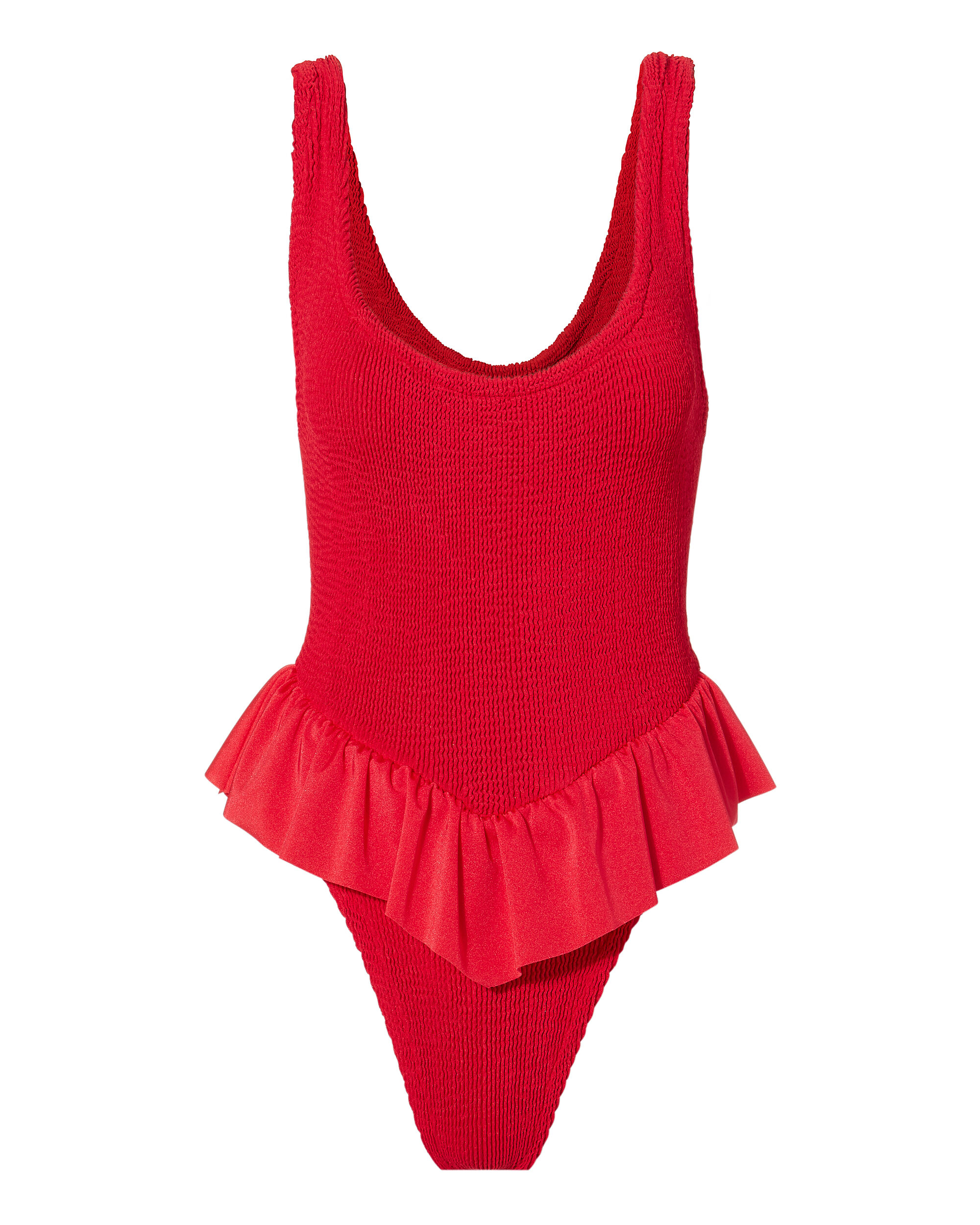 HUNZA G Denise Red One Piece Swimsuit