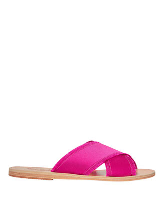 Thais Satin Pink Sandals, PINK, hi-res
