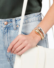 Gold-Tone Droplet Cuff, METALLIC, hi-res
