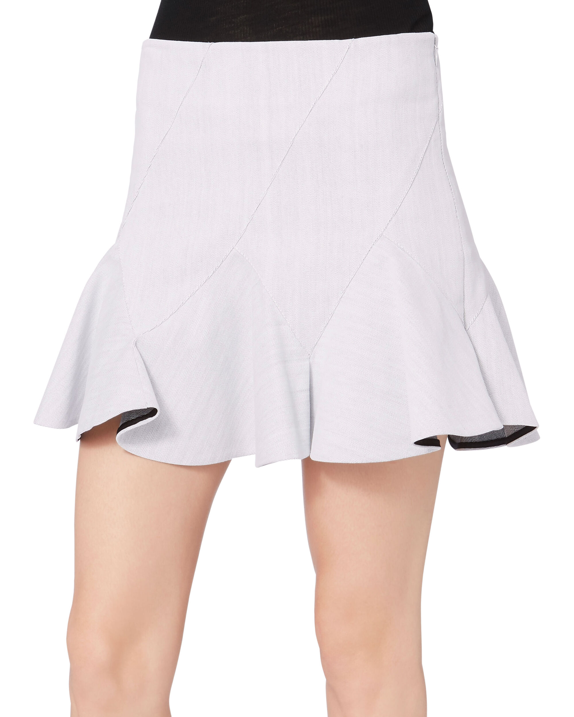 Godet Mini Skirt, GREY, hi-res