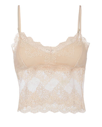So Fine Lace Crop Cami, BEIGE, hi-res
