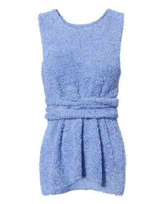 Paper Towel Knit Tank, BLUE-LT, hi-res