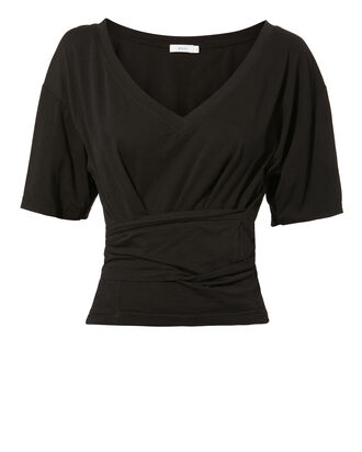 Trinity Wrap Top, BLACK, hi-res
