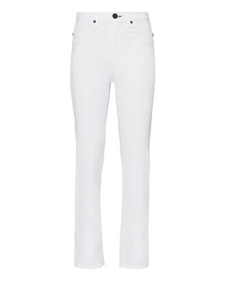 White High-Rise Cigarette Jeans, WHITE, hi-res