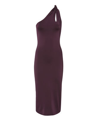 Gloss Jersey Twist Strap Dress, RED, hi-res