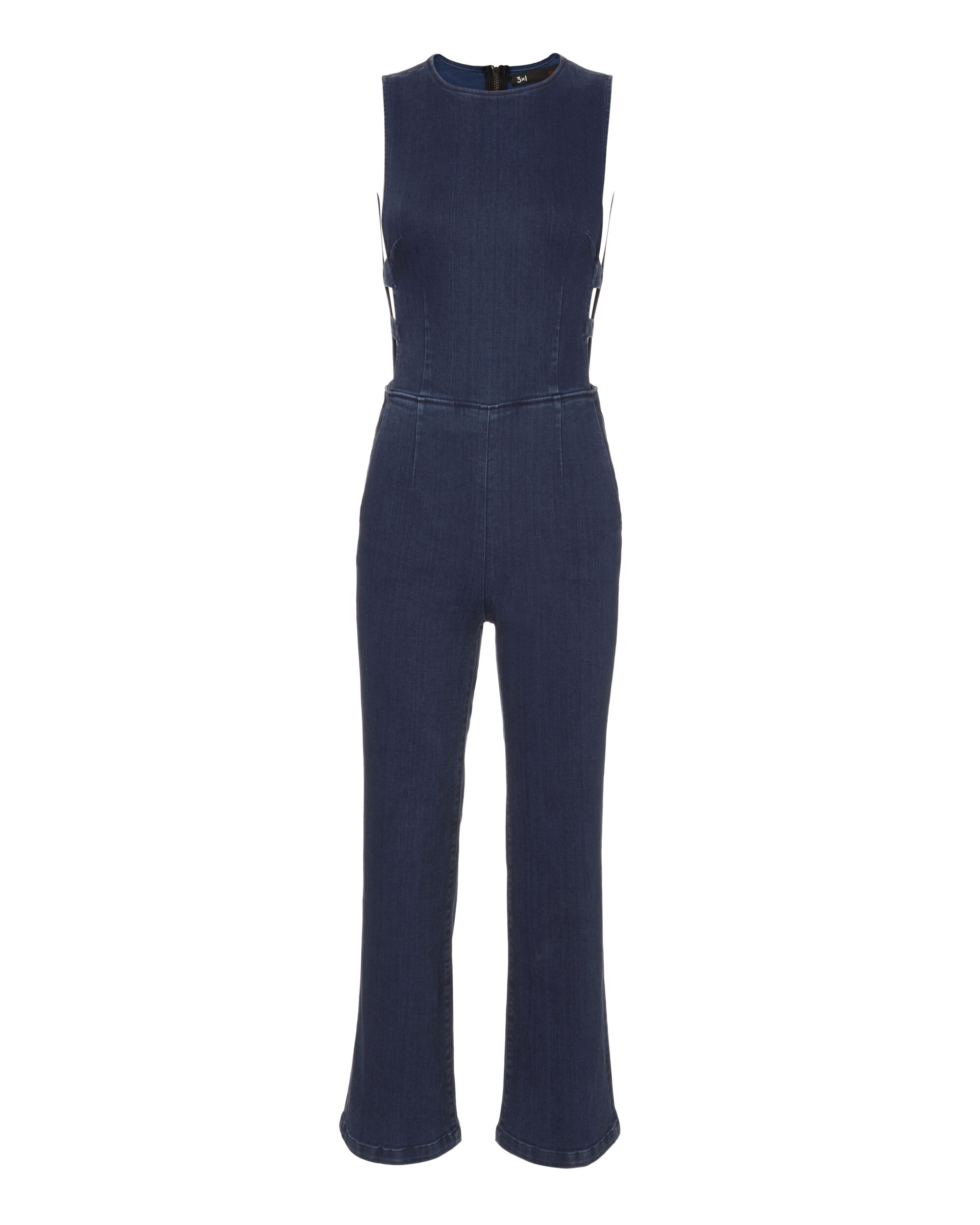 Tabby Cutout Jumpsuit, DENIM-DRK, hi-res