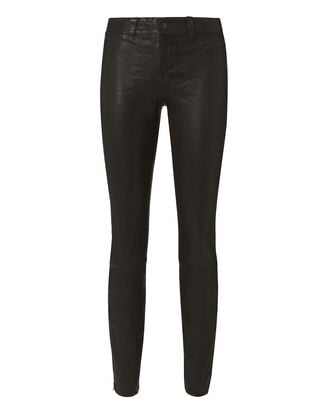 Skinny Leather Pants, BLACK, hi-res