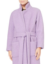 Fenn Pastel Lilac Wrap Coat, PURPLE, hi-res