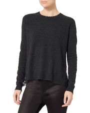 Lace Back Sweater, GREY, hi-res