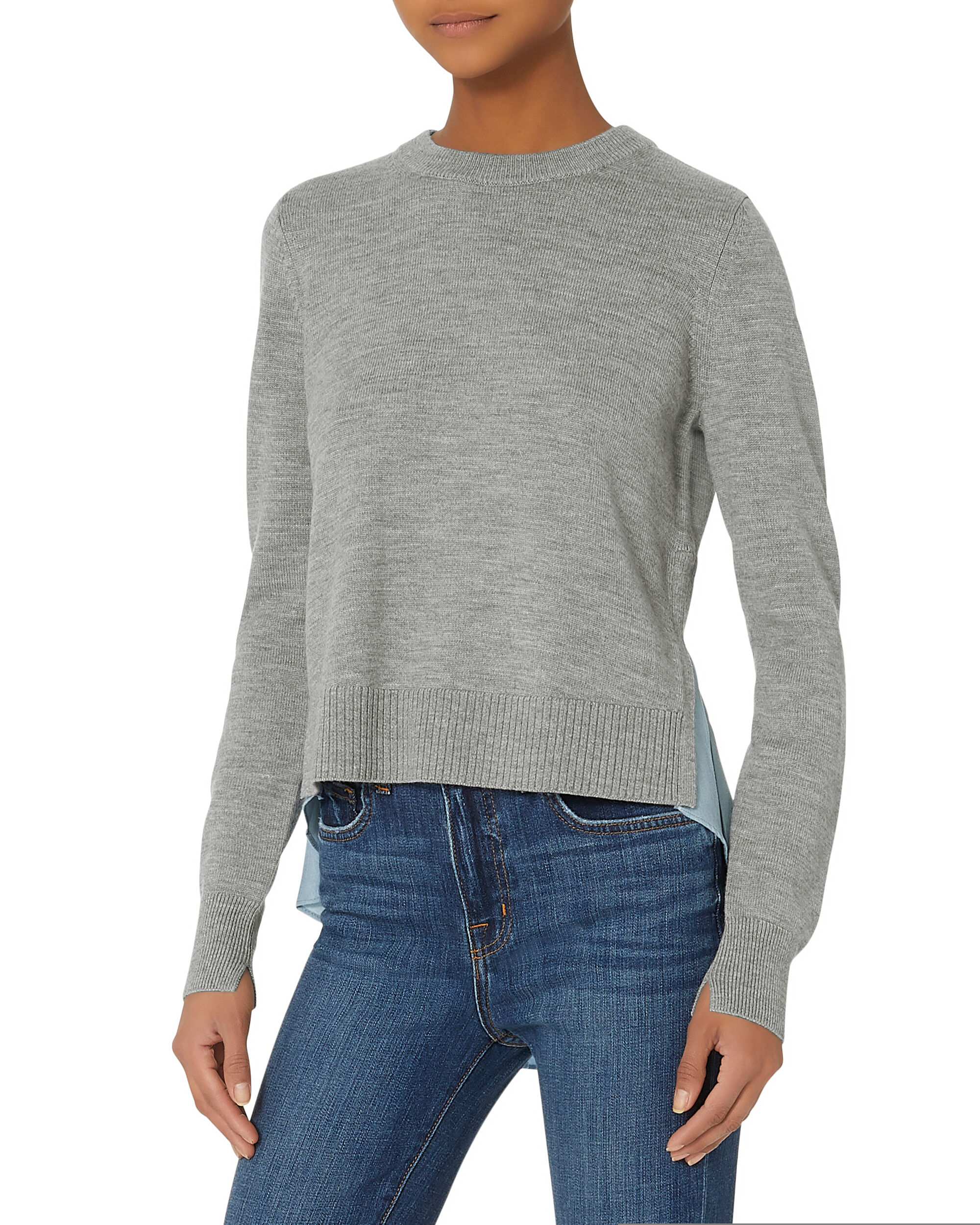 Concord Layered Sweater, GREY, hi-res