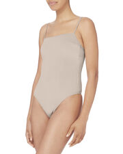 Straight Neck Champagne Bodysuit, METALLIC, hi-res