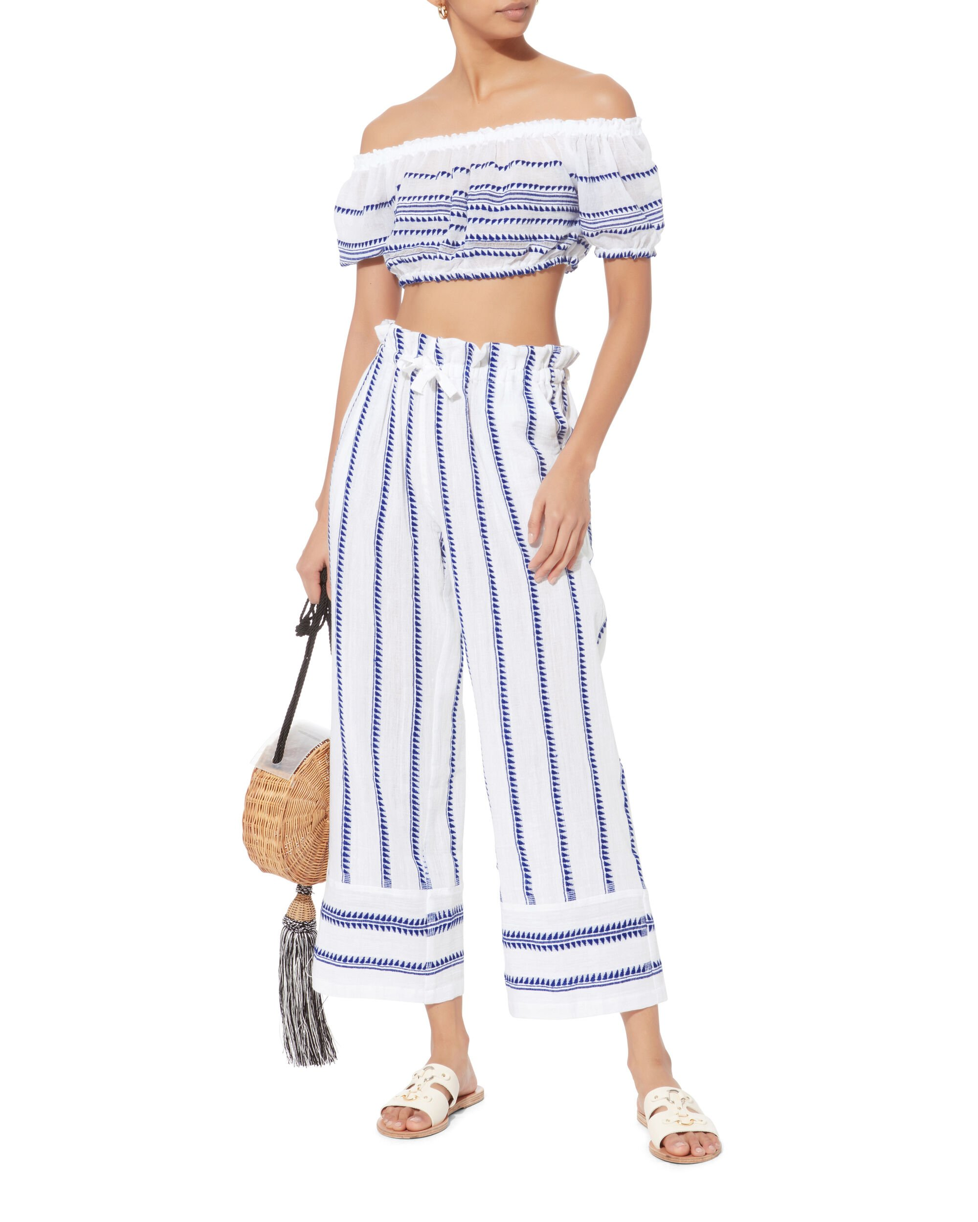 Lulu Off Shoulder Crop Top, BLUE-LT, hi-res