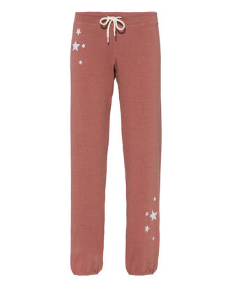Antique Rose Star Sweatpants, PINK, hi-res