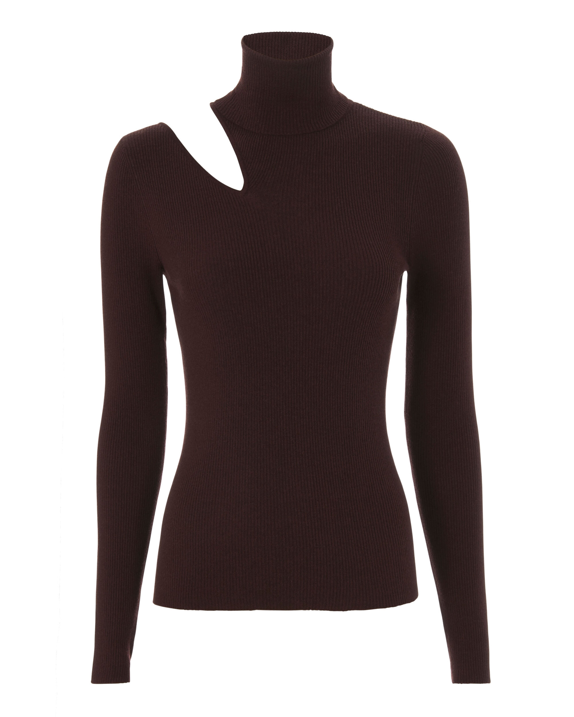 Kara Cutout Knit Sweater, PURPLE, hi-res