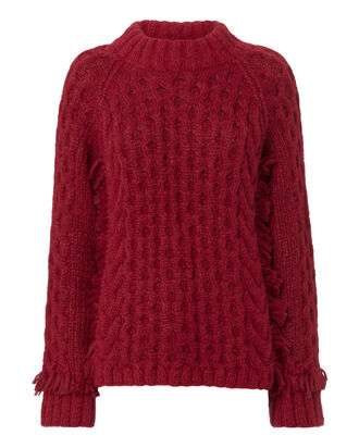 Lorena Claret Sweater, RED-DRK, hi-res