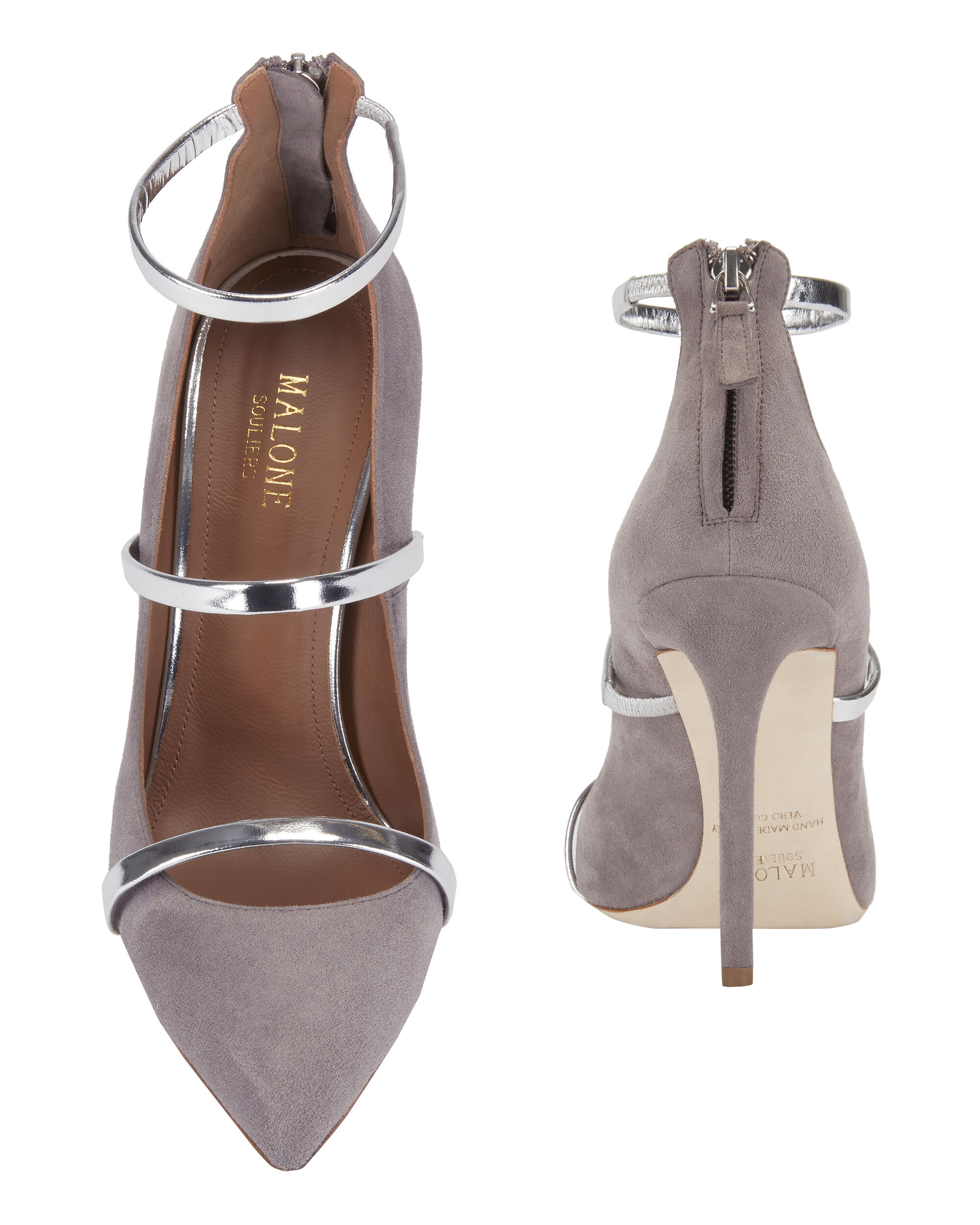 Robyn Suede Pumps, GREY, hi-res