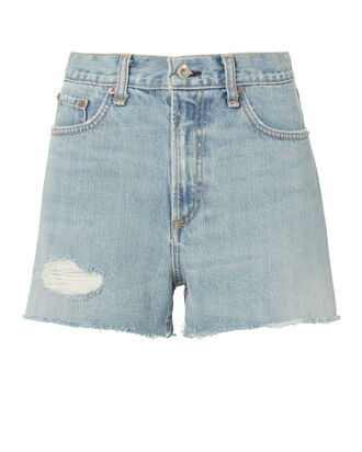Justine Cutoff Shorts, DENIM, hi-res