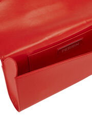 Le Cabriolet Glove Strap Red Clutch, RED, hi-res